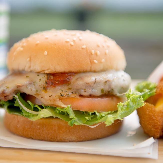 Pizza Burger  at Albatross Drive-In