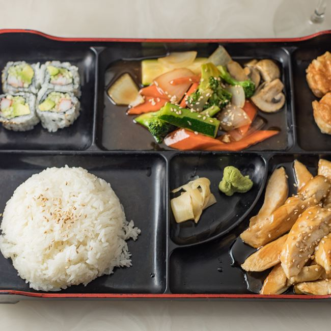Chicken Teriyaki Bento Box at Ninja Japanese and Chinese Restaurant