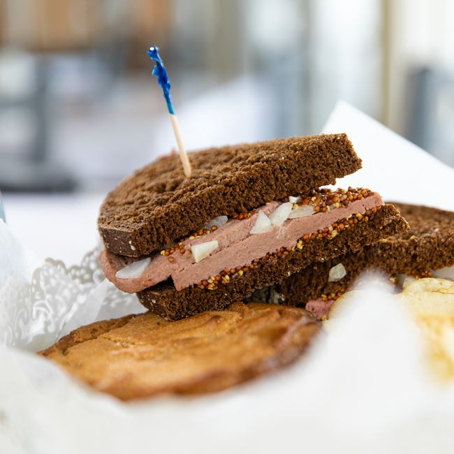 Classic Braunschweiger Sandwich at Macready Artisan Bread Co LLC