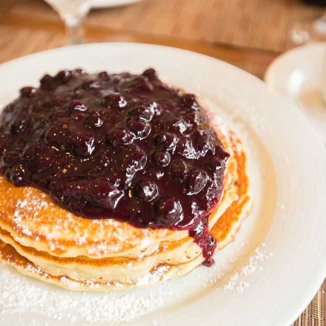 Blueberry Pancakes at Café at the Pfister