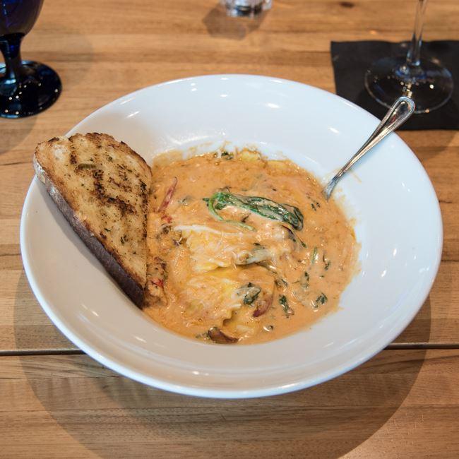 Lobster Ravioli at Bonfyre American Grille