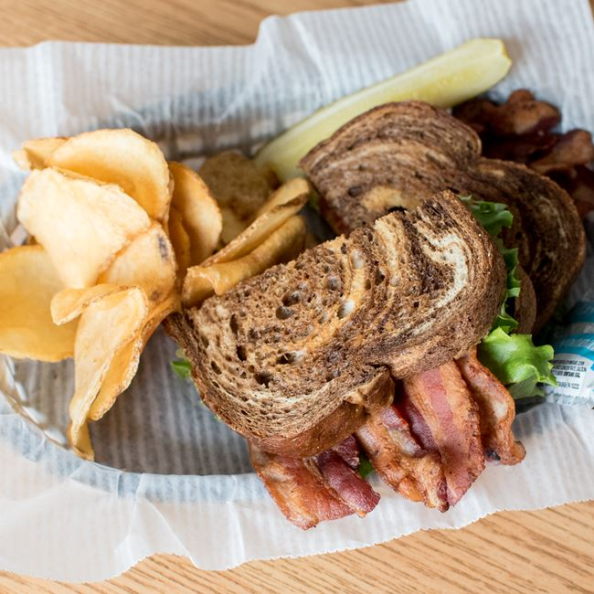 BLT on Marble Rye at Sunset Bar & Grill