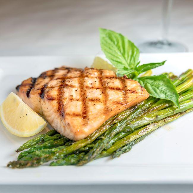 Salmon at Benvenuto's Italian Grill