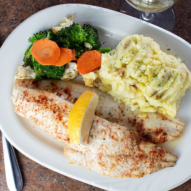 Baked Haddock at Carrington Pub & Grill