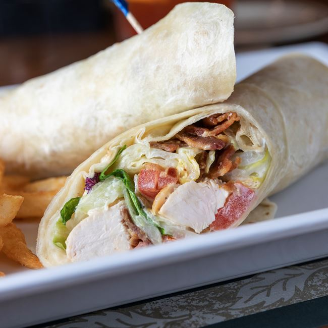 Chicken Bacon Wrap at The Roxy Supper Club