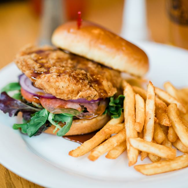 Fried Chicken Sandwich at Junipers Gin Joint