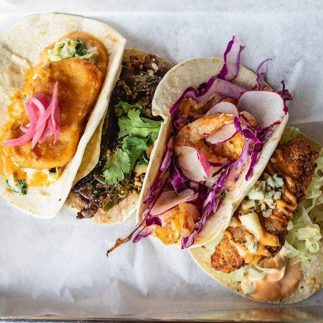 A la Carte Tacos at Blue Bat Kitchen and Tequilaria
