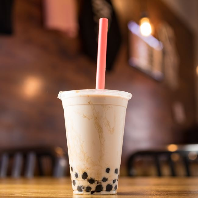 Bubble Milk Black Tea at KBG Korean BBQ & Grill