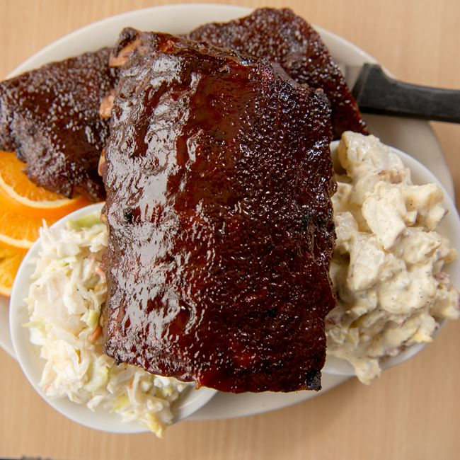 BBQ Baby Back Ribs at Casey's BBQ & Smokehouse