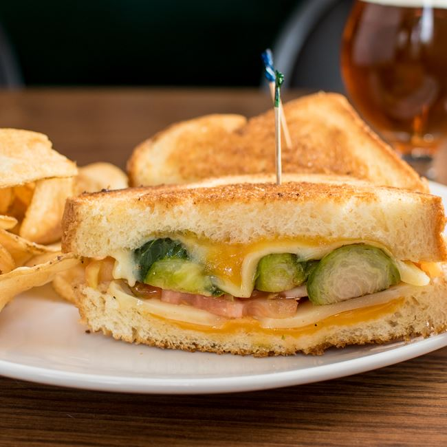 Stuffed Grilled Cheese at Dexter's Pub