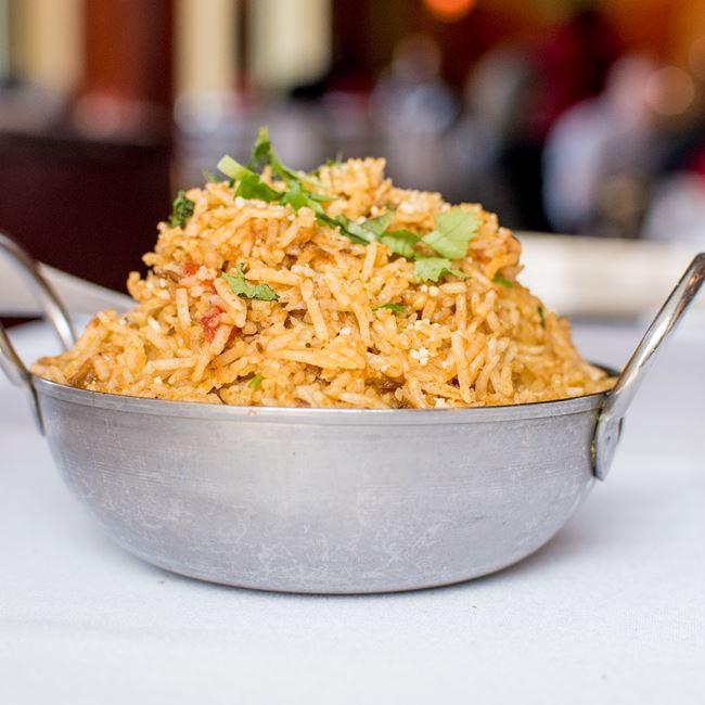 Beef Biryani  at Dhaba Indian Bistro