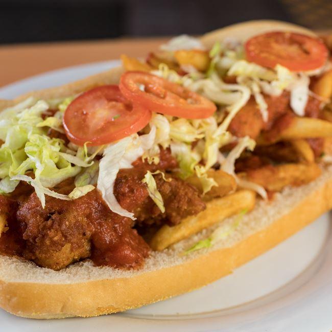 Fat Darrell Sandwich at Nuebies Pizza