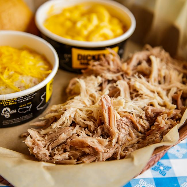 1 Meat Plate with Pulled Pork at Dickey's Barbecue Pit