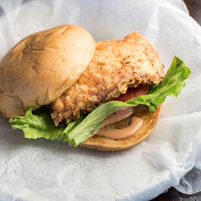 Chicken Sandwich at AJ Bombers