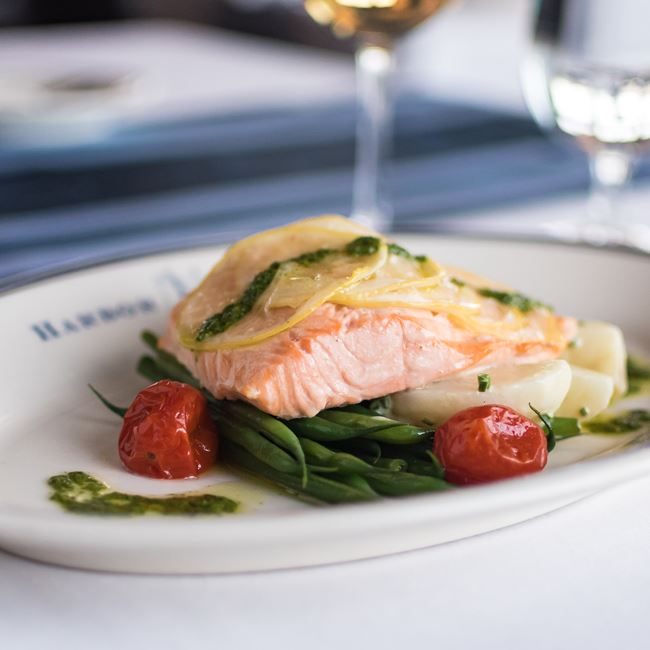 Steamed Salmon  at Harbor House