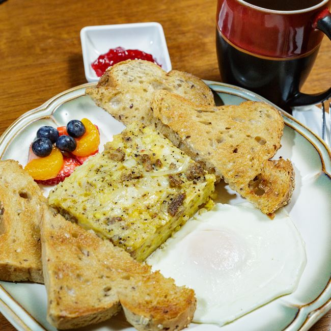 Amish Breakfast Bake at Great Northern Coffee Traders