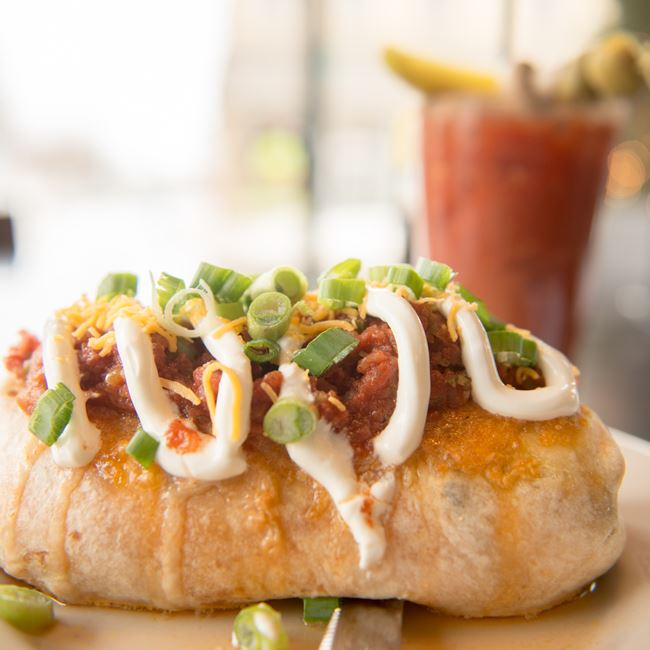 Chorizo Breakfast Burrito at Cedar Crossing Restaurant and Bar