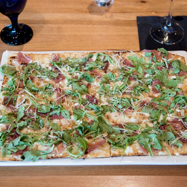 Fig & Prosciutto Flatbread at Bonfyre American Grille