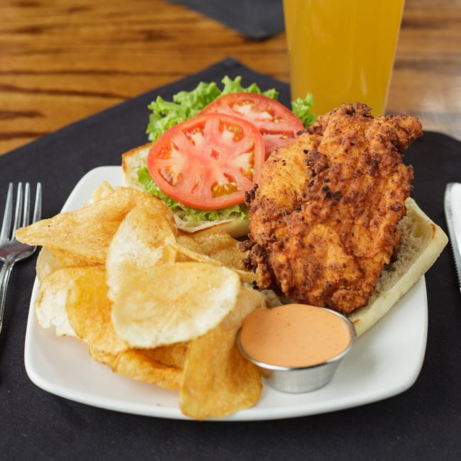 Southern Fried Chicken Sandwich at Minocqua Brewing Company