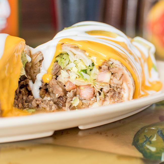 Suizo Burrito at La Taqueria El Jalapeño
