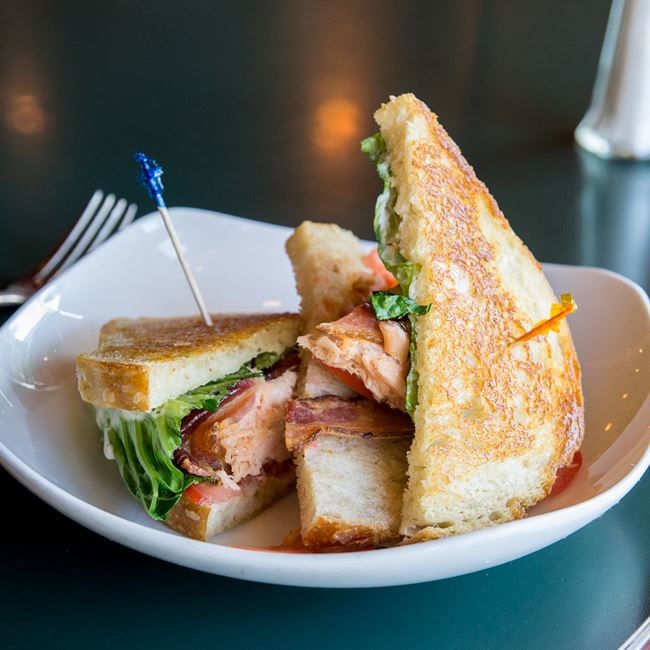 Salmon BLT at Jacs Dining and Taphouse