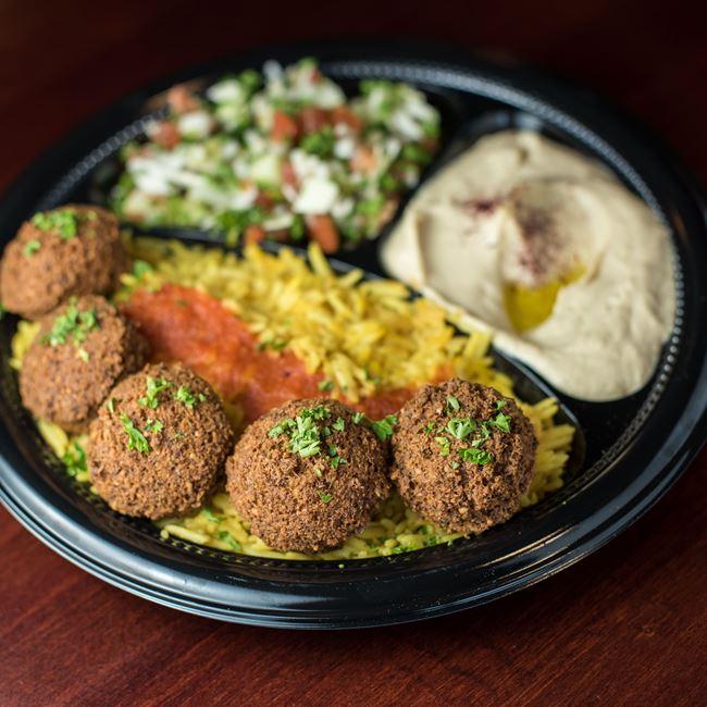 Falafel Plate at Shawarma House