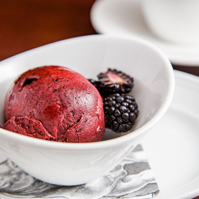 Lemon Blueberry Sorbet at Mason Street Grill