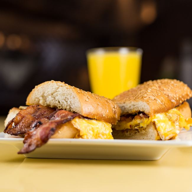 Egg, Bacon & Cheese Breakfast Sandwich at Solly's Grille