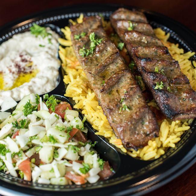 Kefta Kabab Entree at Shawarma House