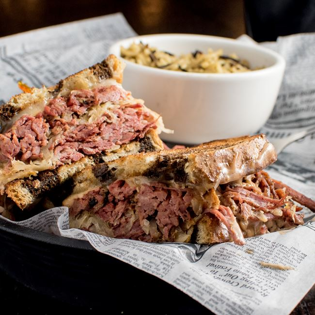 Reuben Sandwich at Dublin's Irish Pub