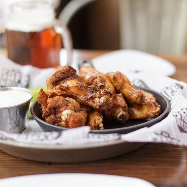 Texas Dry Rub Bird Watcher's Wings at SafeHouse