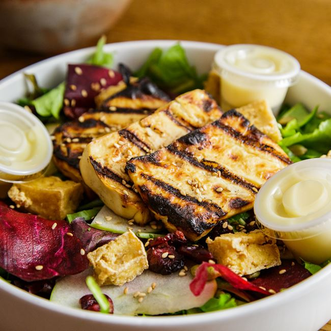Salad with Tofu and Honey Lemon Dressing at Glaze Teriyaki