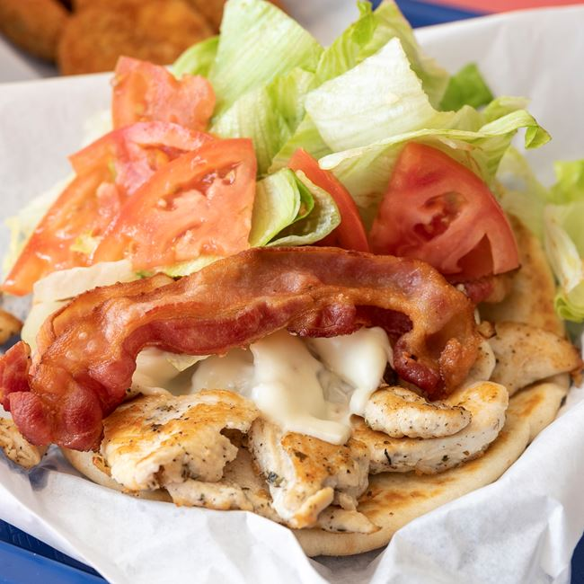Bacon & Swiss Chicken Pita at Niko's Gyros