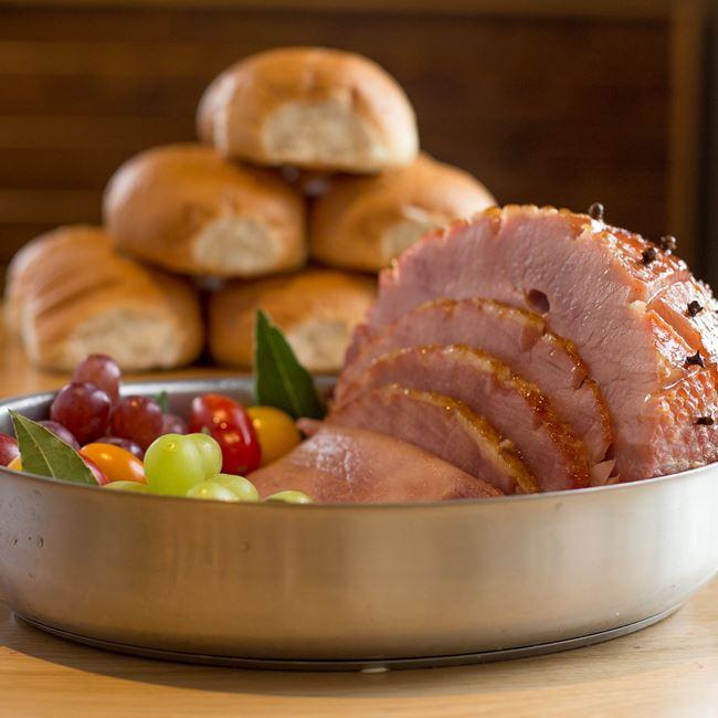Hot Ham and Rolls at Metcalfe's Market