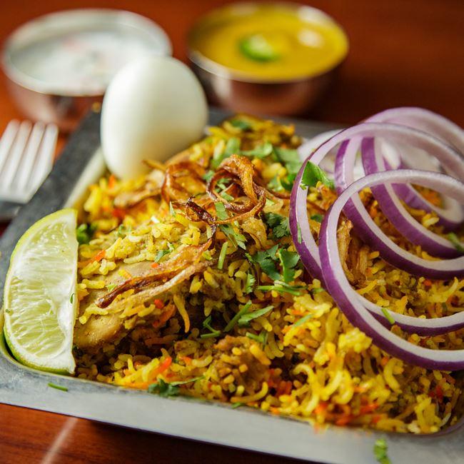 Thalapakattu Biryani at OM Indian Fusion Cuisine