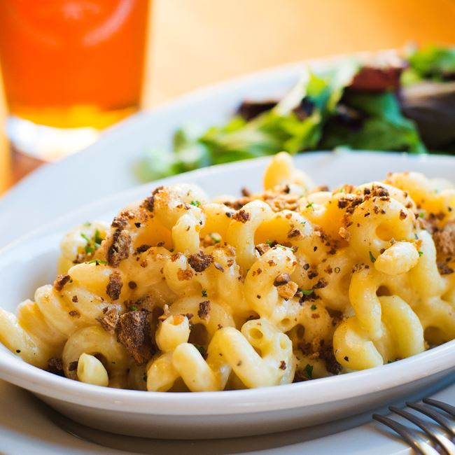 Tracy's Baked Mac + Cheese at Rockhound Brewing Company
