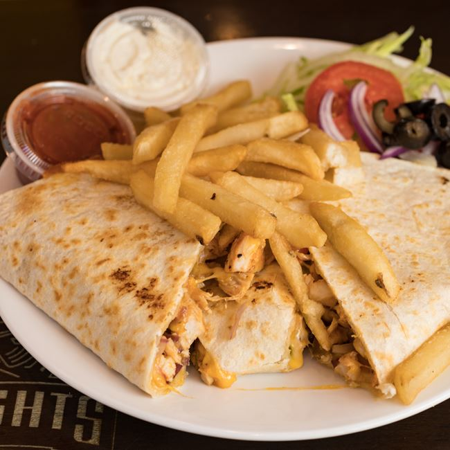 Grilled Chicken Quesadillas at Knights Express Pizza & Grill