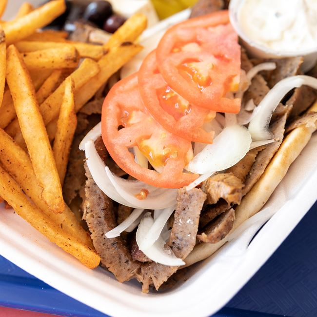 Gyro Plate with Fries at Niko's Gyros