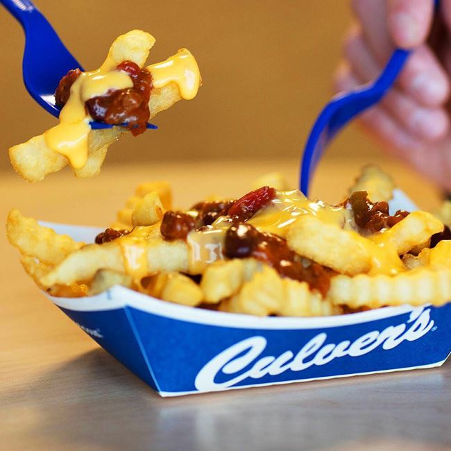 Chili Cheddar Fries at Culver's