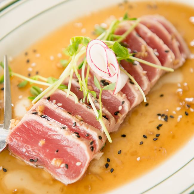 Tuna Tataki at Barringer's Restaurant