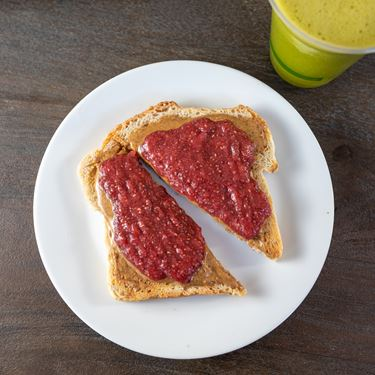 Almond Butter and Jam Toast