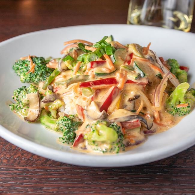 Coconut Curry Stir Fry at Mahoney's Restaurant and Bar