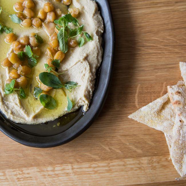 Creamy Sesame Hummus at Tre Rivali