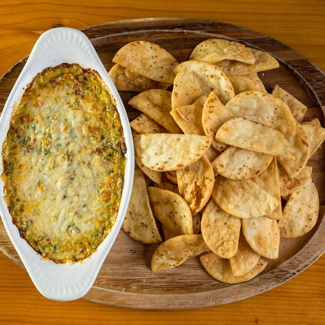 Spinach Artichoke Dip at Viking Brewpub