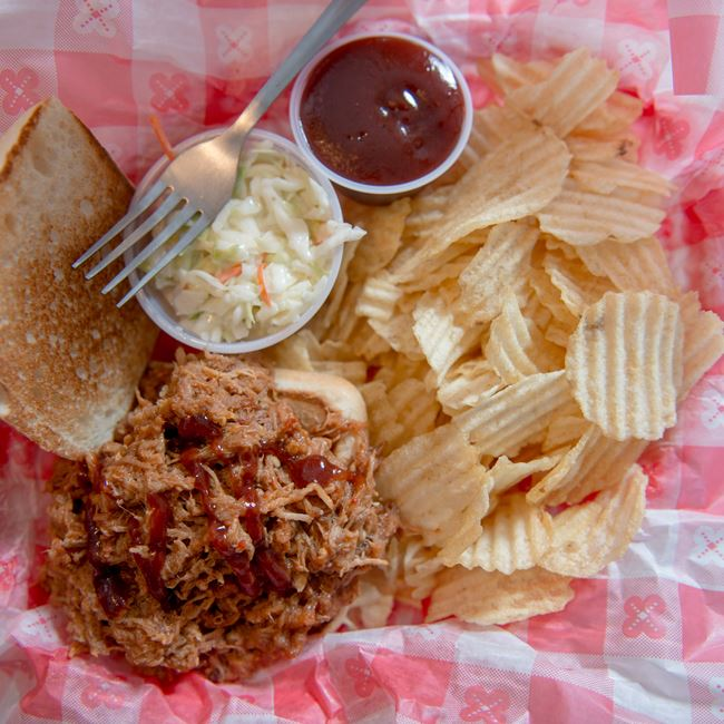 BBQ Pulled Pork Sandwich  at Wilson's Restaurant & Ice Cream Parlor
