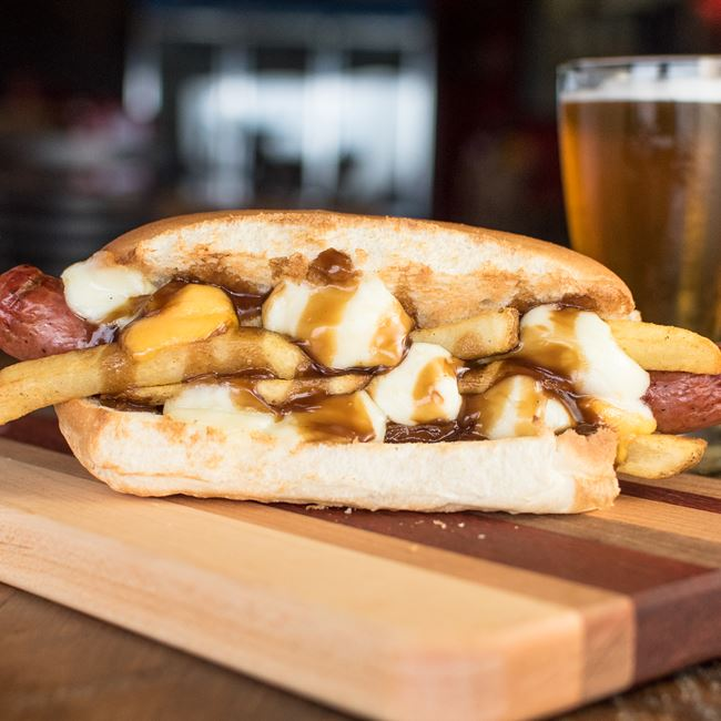 Poutine Dog at The Fermentorium Brewery and Tasting Room
