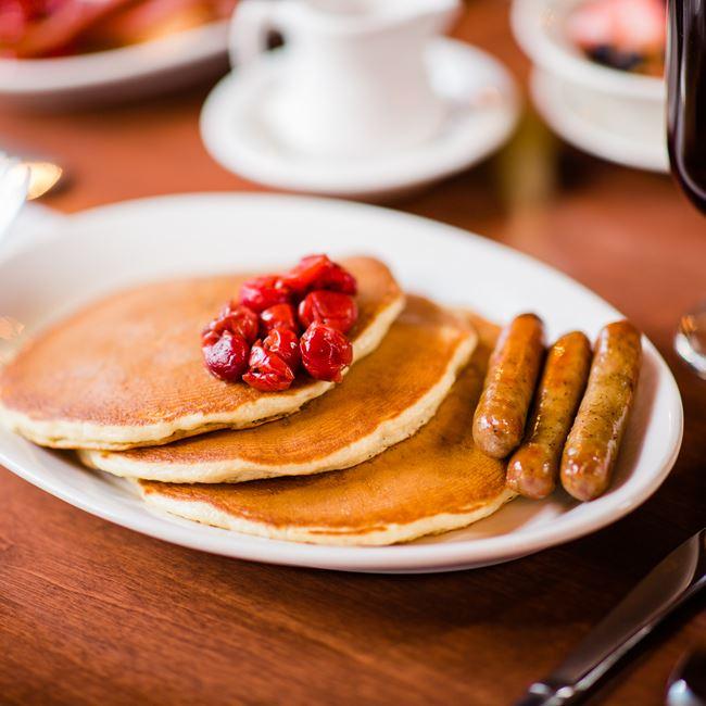 Door County Cherry Pancakes at White Gull Inn