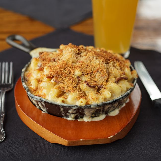 Bacon Mac and Cheese at Minocqua Brewing Company