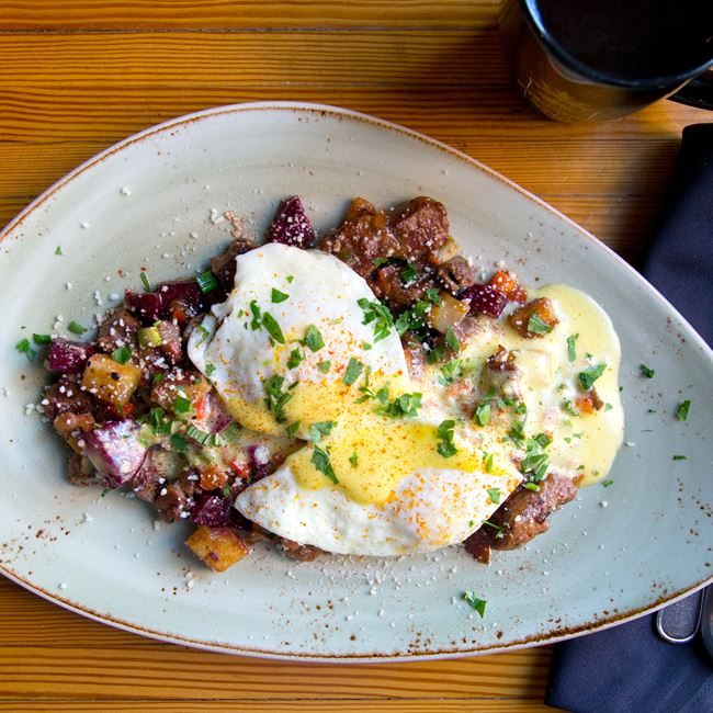 Steak Tip Red Flannel Hash at Benelux Grand Cafe & Market