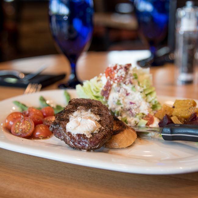 Steak and Wedge Salad at Bonfyre American Grille
